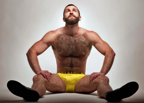 yellow, handsome, hunk, chest, hairy, fur