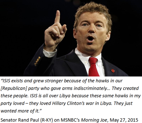 Senator Rand Paul on Republicans and Isis