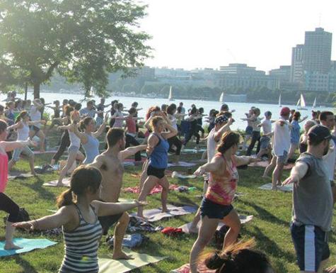 Free yoga, Boston