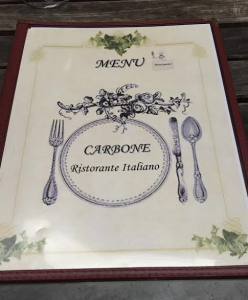 Carbone Ristorante Hells Kitchen Menu
