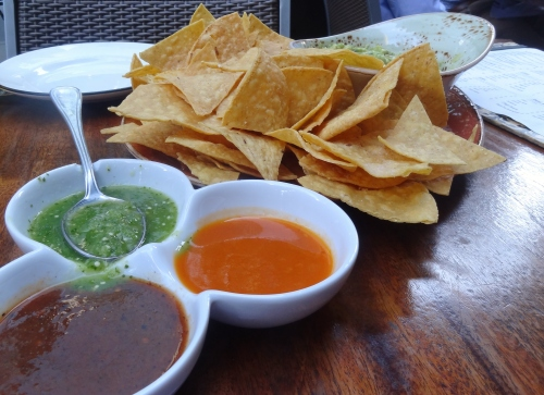 Guacamole with chips and salsa for two $14