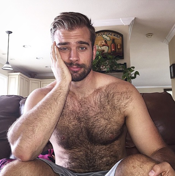 handsome, hunk, hairy, chest, beard