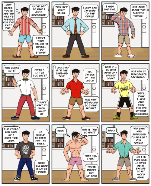 gay comic strip, gay cartoon