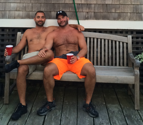 handsome, couple, Ptown, Provincetown