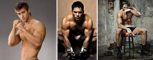 Sweaty Men Boxing