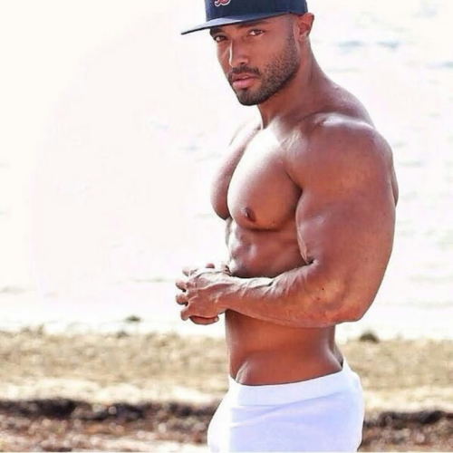 handsome, hunk, gawjus, black, muscles
