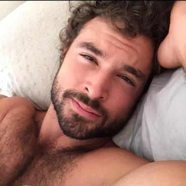 handsome, hunk, beard, bed head