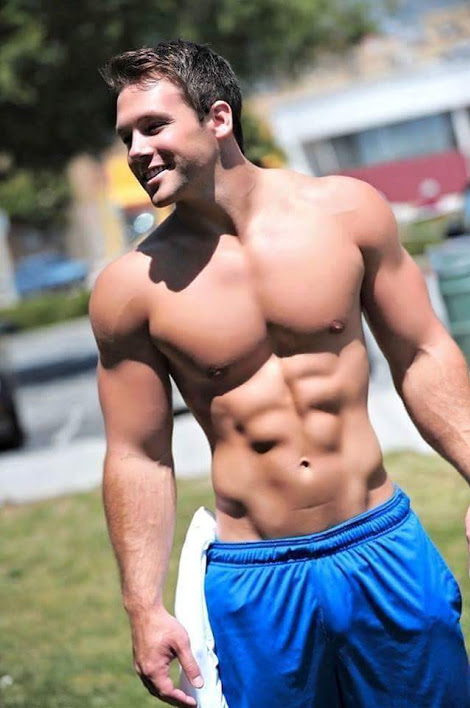 abs, handsome, hunk, muscles