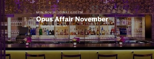 Opus Affair at W Boston November 2015