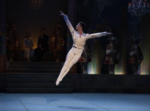Paulo Arrais of Boston Ballet in Mikko Nissinen's The Nutcracker photo by Rosalie O'Connor