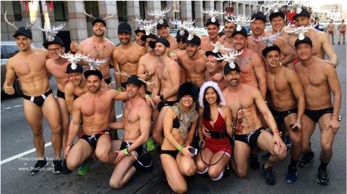 Boston Santa Speedo Run 2015 v