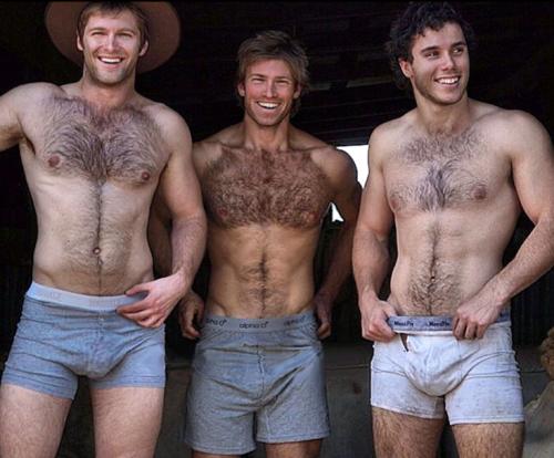 handsome, hunk, hairy chest, underwear