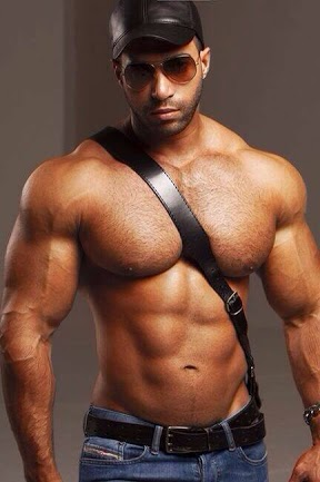 Temptation Tuesday, black, hunk, abs, pecs, muscles