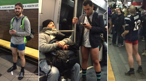 No Pants Subway Ride Boston