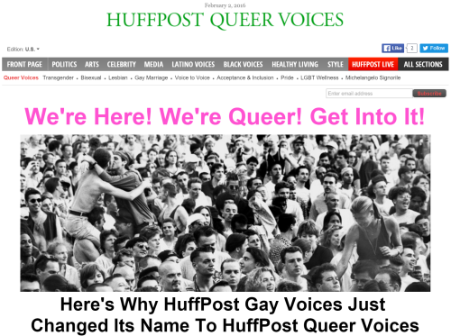 Gay Voices, HuffingtonPost