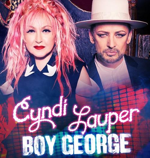 Cyndi Lauper and Boy George in Boston