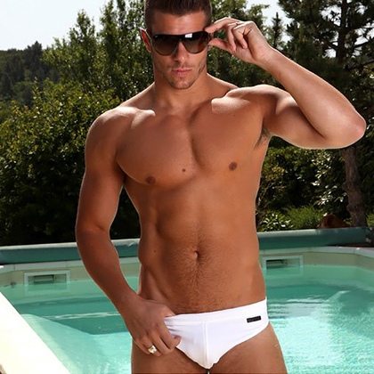 Temptation Tuesday, white speedo, handsome, hunk