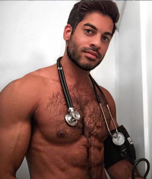 Handsome, hunk, hairy, furry, doctor