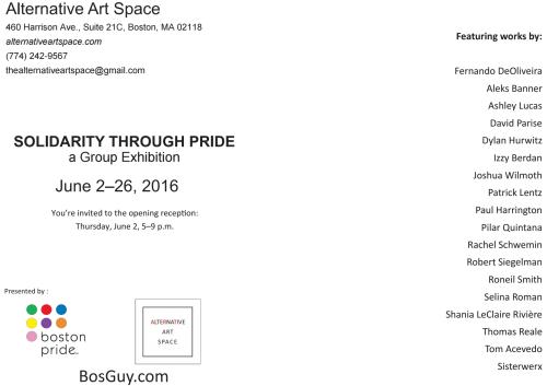 Boston Pride Art Exhibit Solidarity through Pride