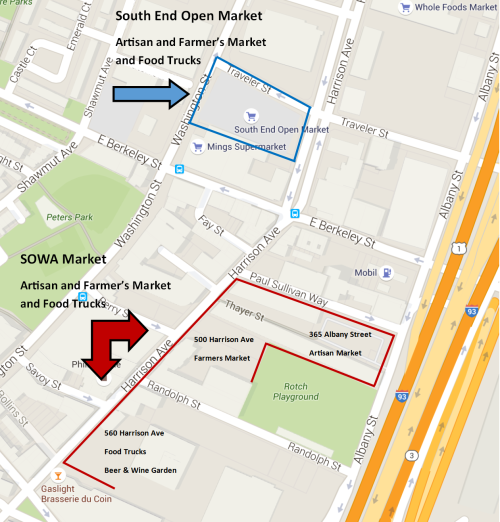South End and SOWA Open Market Map 2
