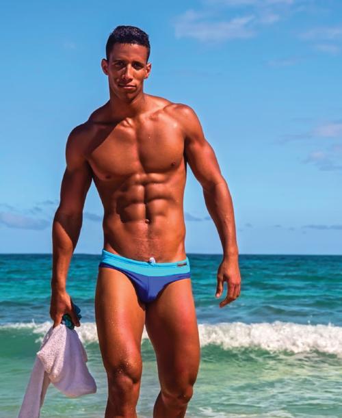 swimwear, bathing suit, blue, hot, handsome, hunk