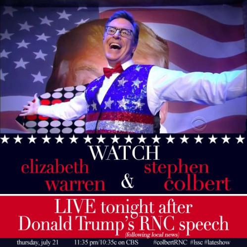 Stephen Colbert, Elizabeth Warren, CBS