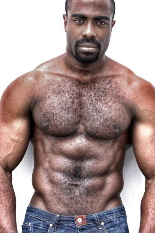 handsome, hairy, hunk, muscles, black