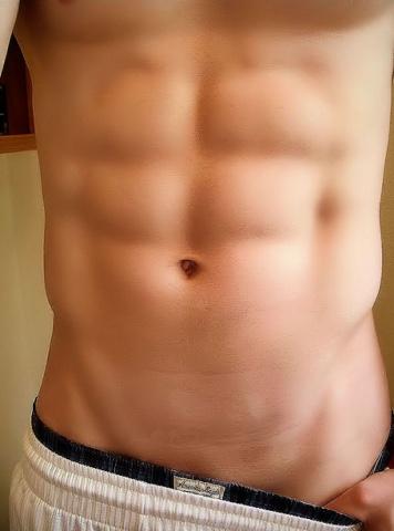 male torso, abdominals