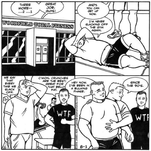gay comic strip, gay cartoon