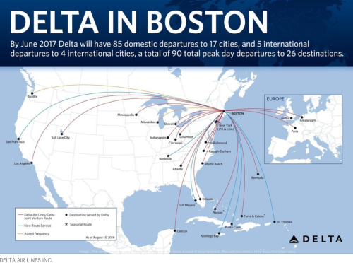 Delta Airlines in Boston