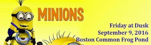 Minions on Boston Common Frog Pond