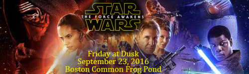 Star Wars on Boston Common Frog Pond