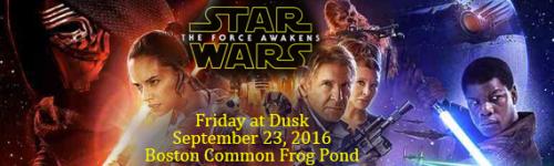 Star Wars on Boston Common Frog Pond