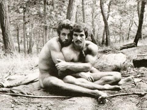gay couple camping, naked gay couple