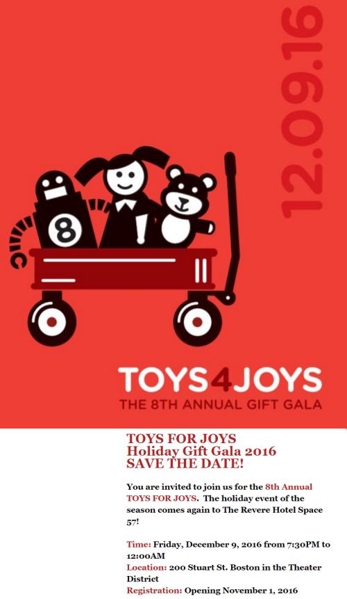 Toys for Joys, T4J 2016