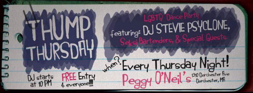 Peggy O'Neil's, gay boston