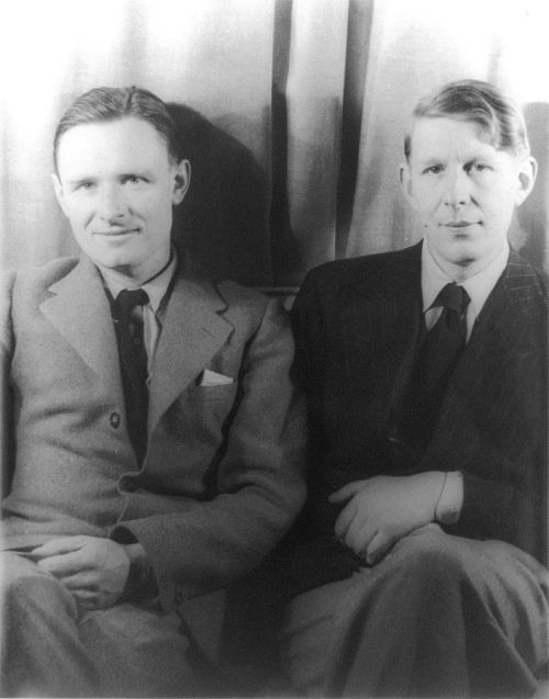 Christopher Isherwood (left) and W. H. Auden (right) photographed by Carl Van Vechten, 6 February 1939