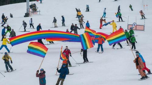 gay Canada, gay ski