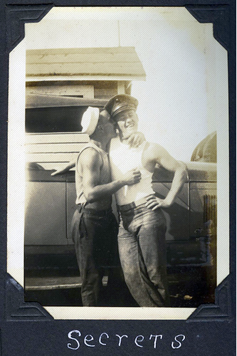 Vintage gays making out