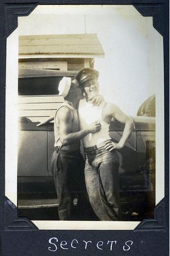 Vintage gays making out