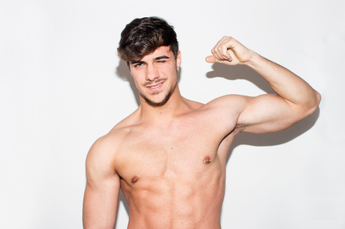 hunk, handsome, shirtless guy