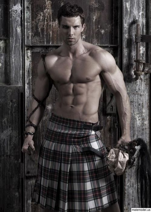 Men in kilts, muscular, homoerotic