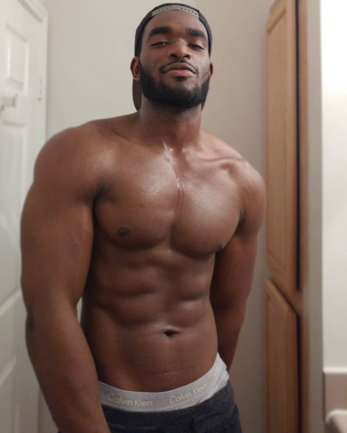 handsome, hunk, shirtless black man, handsome black man