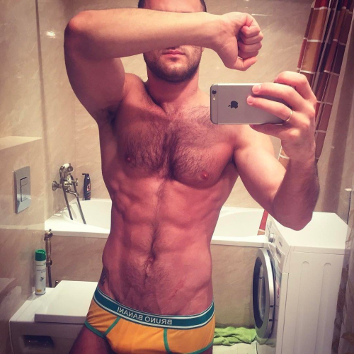 muscles, underwear, hairy chest