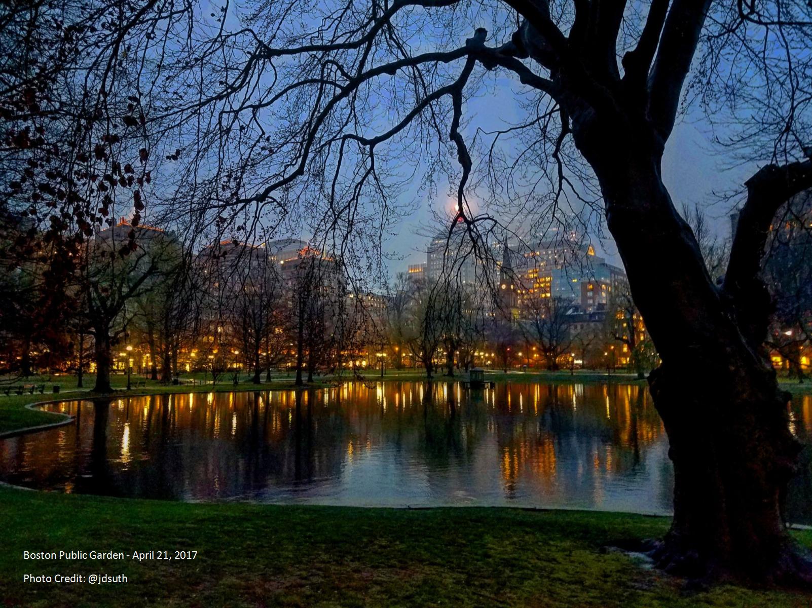 Boston Public Garden At Night By James Sutherland Bosguy