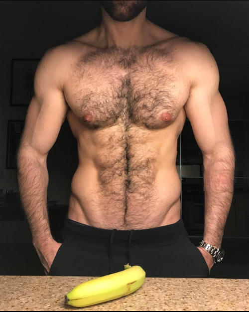 hairy, hunk, chest