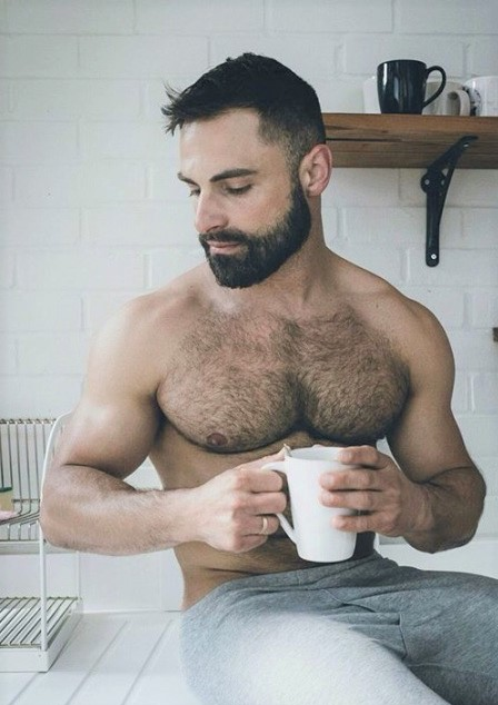 handsome, hairy chest