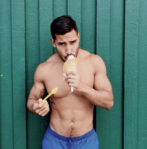 Temptation Tuesday, man eating ice cream