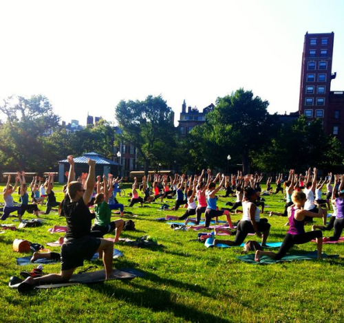 free yoga in Boston