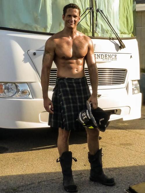 handsome, hunk, fireman